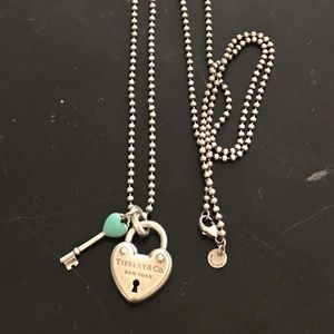 Tiffanny & Co necklace and 2 charms